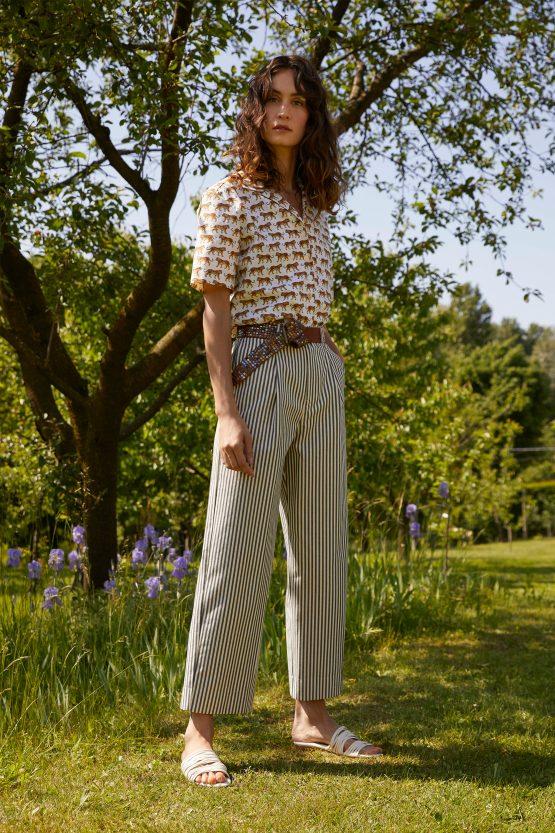 pantaloni-donna-di-cotone-a-righe