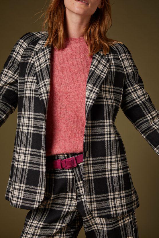 1 Carla Saibene giacca lana tartan