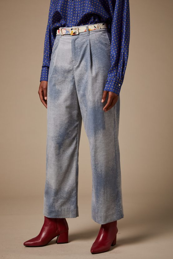 1 pantaloni Carla Saibene jeans delavato