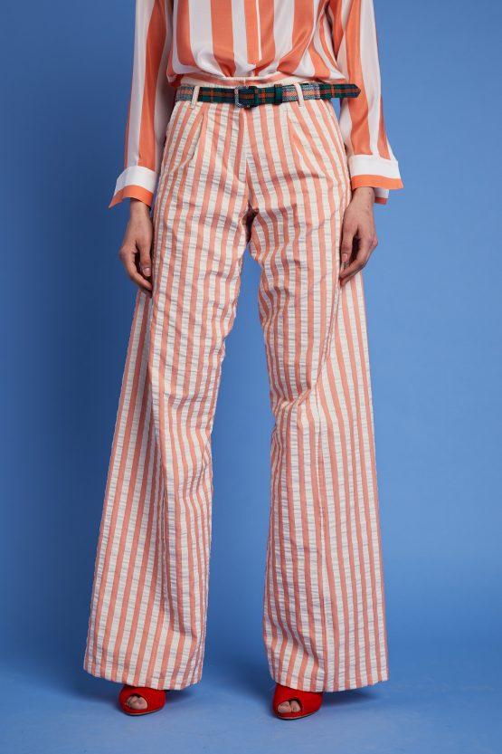 1-pantaloni a righe carla saibene