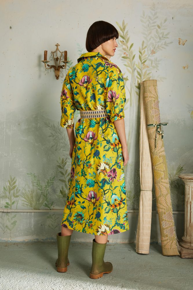 dress yellow flowers print