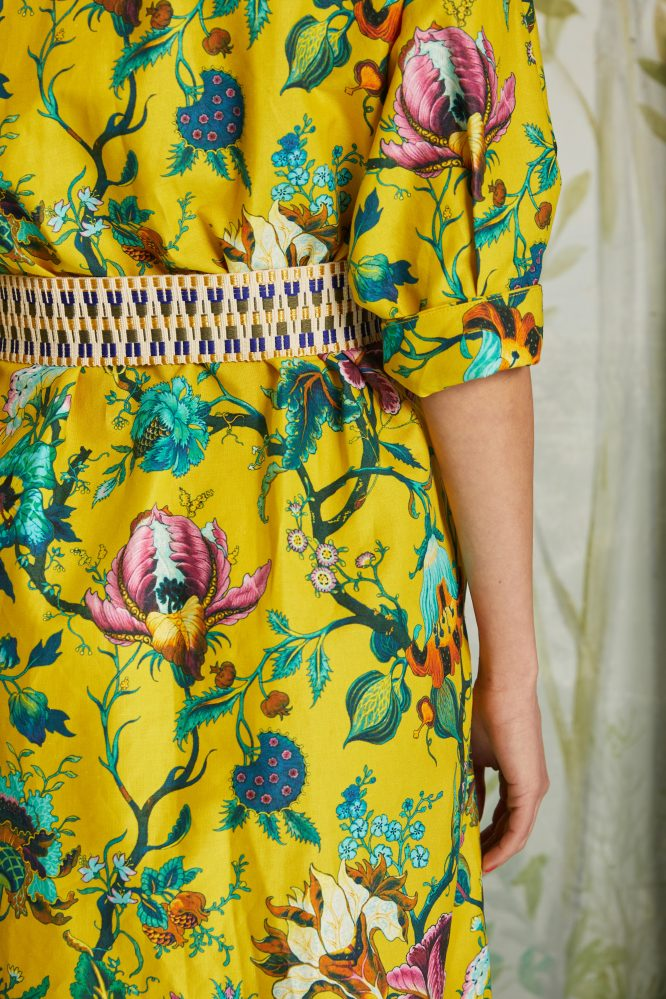 flowers printed dress