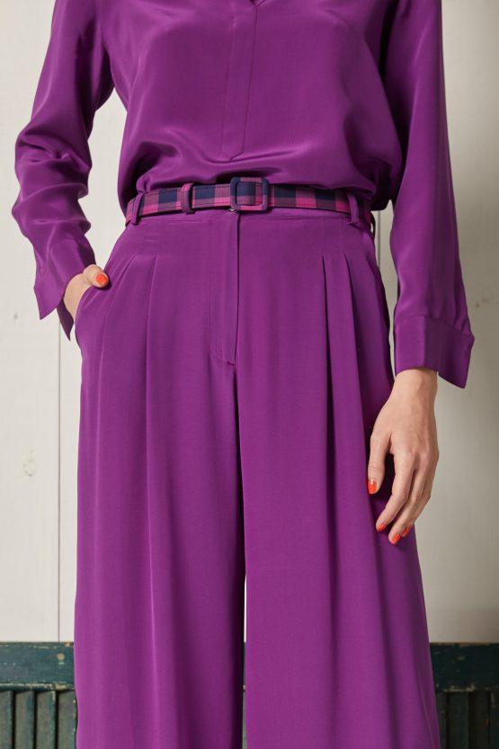 cintura quadri rosa ciclamino blu